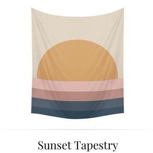 SOCIETY6 Sunset Tapestry